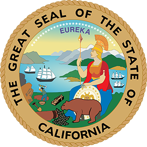 Photo of California official state seal