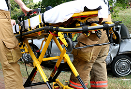 Photo of firemen with a stretcher