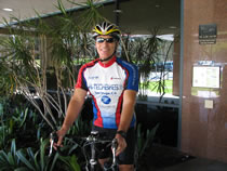 Bicycle accident lawyer Frederick M. Dudek frequently commutes to his law office in San Diego