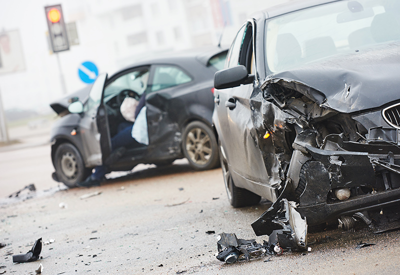 Photo of a car accident