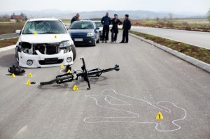 car and cyclist accident