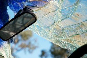 Photo of a shattered windshield and how to keep teen drivers safe
