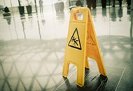 Photo of wet floor sign