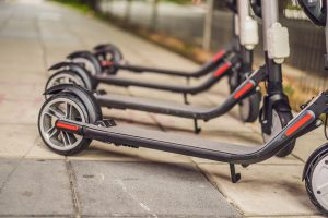 Picture of electric scooters